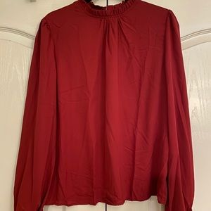 NEW SHEIN High-Neck Blouse in Size XL